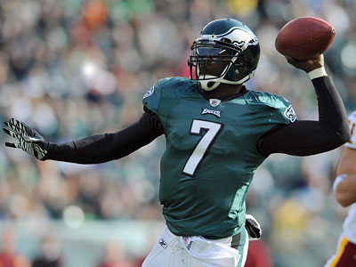 Eagles QB Michael Vick threw one interception every 30.2 attempts last season. (Michael Perez/AP Photo)