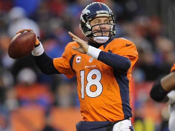 Denver Broncos quarterback Peyton Manning. (AP Photo/Jack Dempsey)