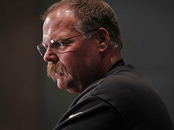 Former Eagles head coach Andy Reid during press conference at the NovaCare Complex on Friday, December 14, 2012. (Alejandro A. Alvarez/Staff Photographer)
