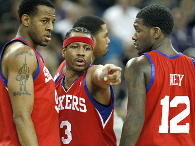 Allen Iverson will know by Wednesday whether he´ll remain with the Sixers for the rest of the season. (AP Photo/Steve Yeater)