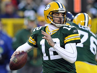 Aaron Rodgers and the Packers will travel to Lincoln Financial Field for the second time this season. (Jim Prisching/AP)
