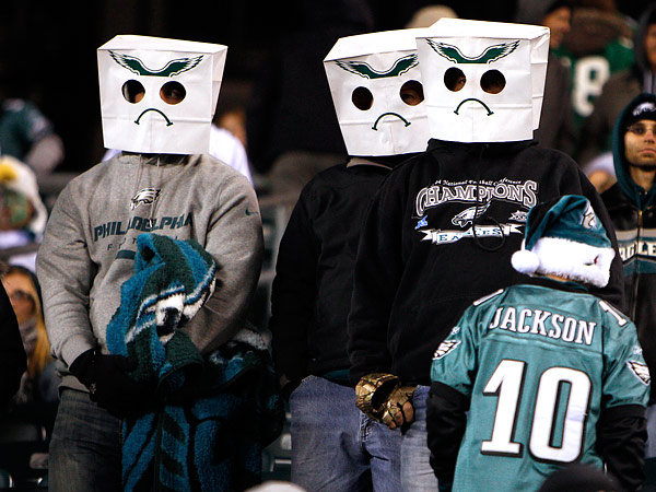 Disgruntled Eagles fans. (David Maialetti/Staff file photo)
