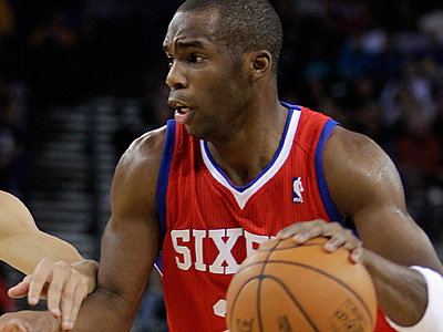 Jodie Meeks and the Sixers will try to finish their season-long road trip with a win over the Hornets. (AP Photo/Ben Margot)