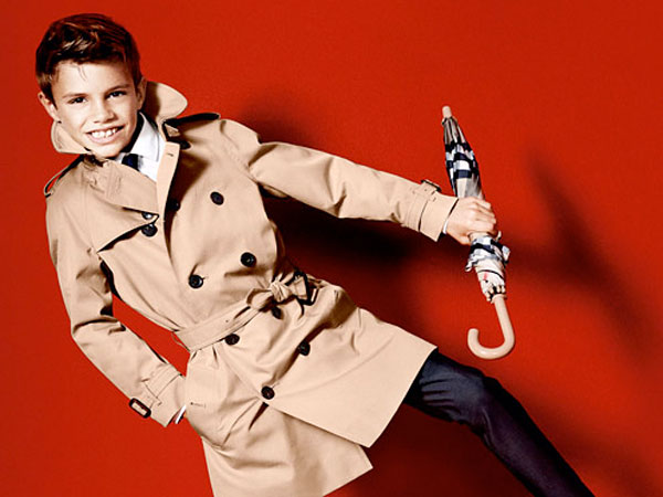 Romeo Beckham stars in Burberry´s spring 2013 ad campaign.
