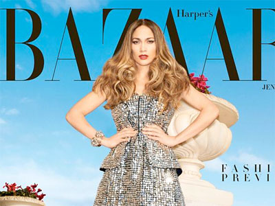 J. Lo on the cover of Harper´s Bazaar.