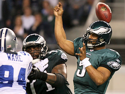 Donovan McNabb and the Eagles were shut out for the first time since 2005 yesterday against the Cowboys. (Yong Kim/Staff Photographer)