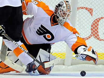 Michael Leighton could end up with the Islanders after being waived by the Flyers yesterday. (Mark J. Terrill/AP File Photo)