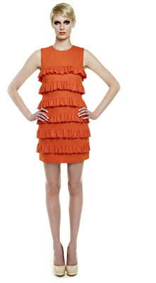This Erin Featherston dress is the Pantone Color of The Year, Tangerine Tango