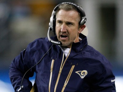 "Steve Spagnuolo was offered a job with the Eagles as a ""place to land,"" Andy Reid announced. (AP Photo/John Froschauer)"