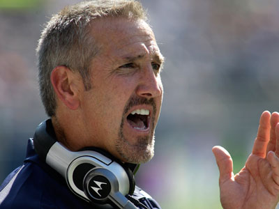 Steve Spagnuolo is expected to start weighing coaching offers later this week. (AP Photo/Ted S. Warren)
