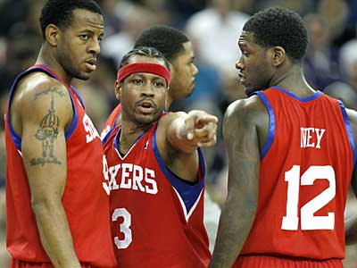The Sixers have guaranteed Allen Iverson´s contract for the remainder of the year. (AP Photo/Steve Yeater)