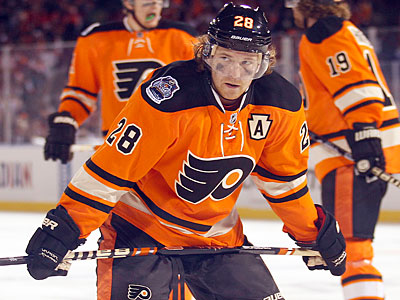 Claude Giroux is ted for second in the NHL with 46 points. (Yong Kim/Staff Photographer)