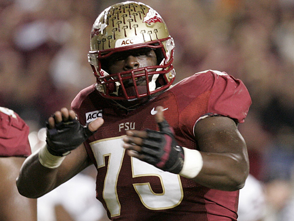 Florida State offensive linesman Cameron Erving. (Steve Cannon/AP)