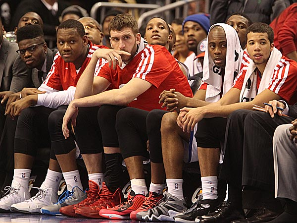 76ers bench. (Charles Fox/Staff Photographer)