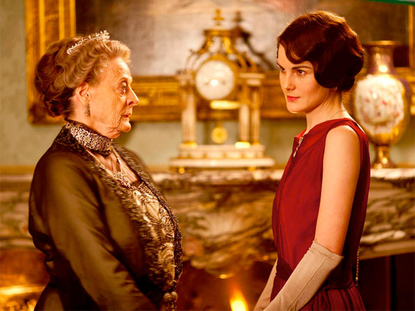 As Lady Mary (Michelle Dockery) prepares to marry, the Dowager Countess (Maggie Smith) prepares to take on Shirley MacLaine. NICK BRIGGS