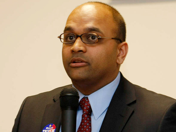Democrat Manan Trivedi is planning a third run for Congress, hoping that the retirement of U.S. Rep. Jim Gerlach (R., Pa.) provides the opening he needs. (File Photo)