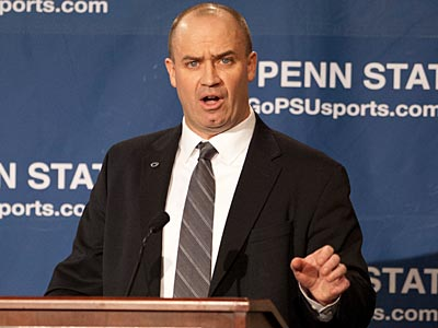 Penn State coach Bill O'Brien released his first depth chart Tuesday. (Andy Colwell/AP)