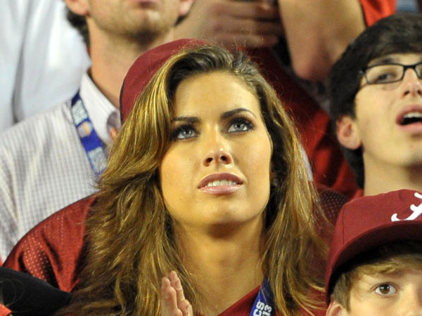 AJ McCarron's girlfriend gets a little attention