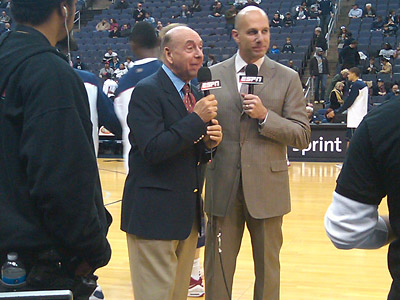 This might have been the first game I´ve covered that Dick Vitale called. Seriously.