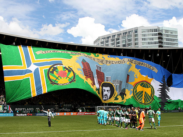 The Portland Timbers´ raucous fan base will be featured in ESPN´s first MLS broadcast of the 2013 season. (Rick Bowmer/AP file photo)