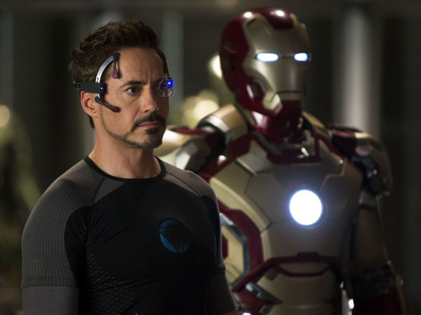 "This undated publicity image released by Marvel shows Robert Downey Jr., as Tony Stark/Iron Man, in a scene from ""Marvel´s Iron Man 3.""  (AP Photo/Marvel/Zade Rosenthal)"