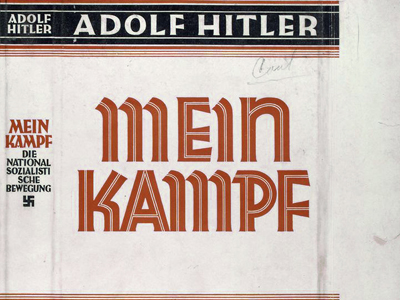 """Mein Kampf"" dust jacket. (Wikipedia)"