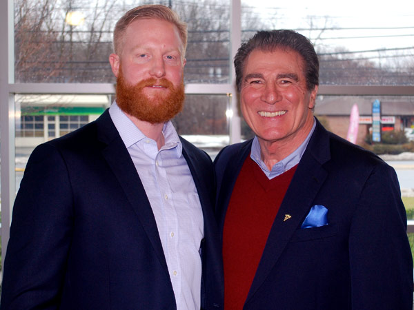 Vince Papale meets with Navy Special Forces veteran Bobby Donnelly in New Jersey earlier this past week. (Vince Papale photo)