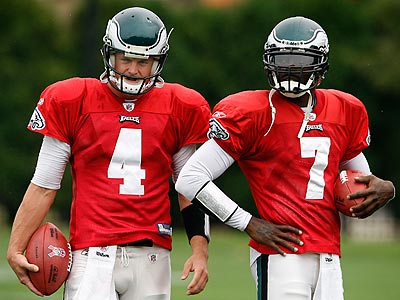 Andy Reid said he wants to have both Michael Vick and Kevin Kolb back with the Eagles next season. (David Maialetti/Staff Photographer)