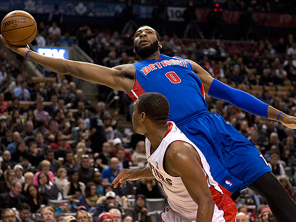 Detroit Pistons center Andre Drummond. (Frank Gunn/The Canadian Press/AP)