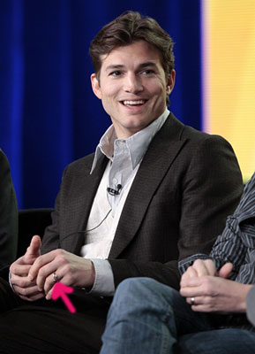 Actor Ashton Kutcher at the Television Critics Association Winter Press Tour for CBS, the CW and Showtime, Wednesday, Jan. 11, 2012, in Pasadena, Calif. (AP Photo/Jason Redmond)