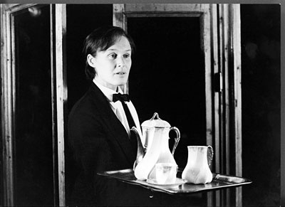 Glenn Close in her 1982 incarnation as Albert Nobbs, onstage at the Manhattan Theatre Club.