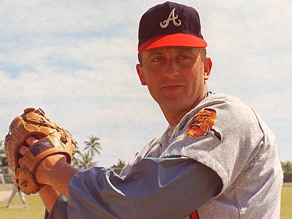 This is a 1968 photo of Atlanta Braves pitcher Phil Niekro. The knuckleballer was voted into the Hall of Fame, Monday, Jan. 6, 1997. (AP Photo)