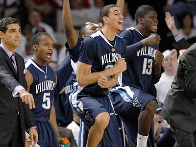 Villanova hopes to celebrate another Big East win tonight as they face Notre Dame at the Wachovia Center. (Ed Reinke/AP file photo)