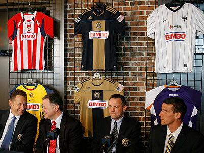 The Union´s press conference with Bimbo highlighted the firm´s ties to other soccer teams. (Michael S. Wirtz/Staff Photographer)