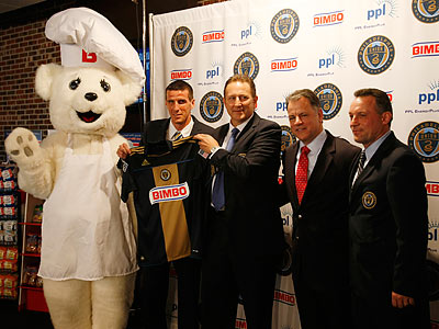 The Union officially introduced Bimbo as its jersey sponsor at a press conference Tuesday. (Michael S. Wirtz/Staff Photographer)