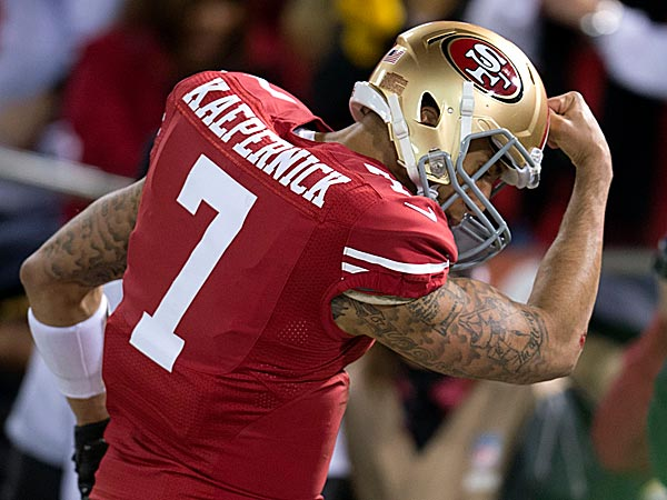 After a record-setting playoff debut that sent San Francisco to the NFC championship game for the second straight season, Colin Kaepernick needs no more introductions. (Hector Amezcua/AP)