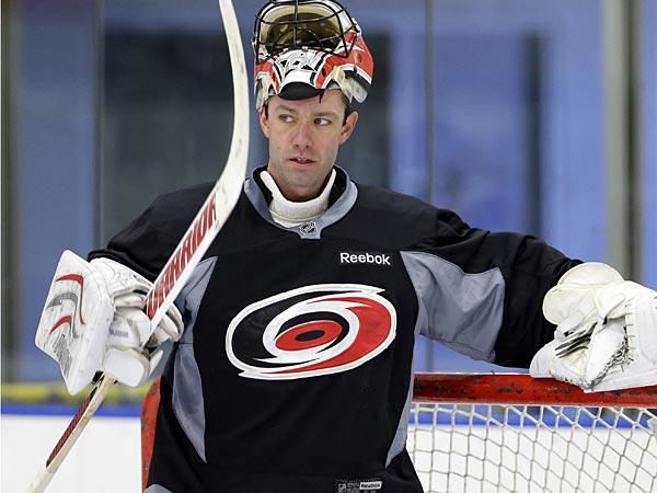 Flyers goaltender Brian Boucher. (Matt Rourke/AP)