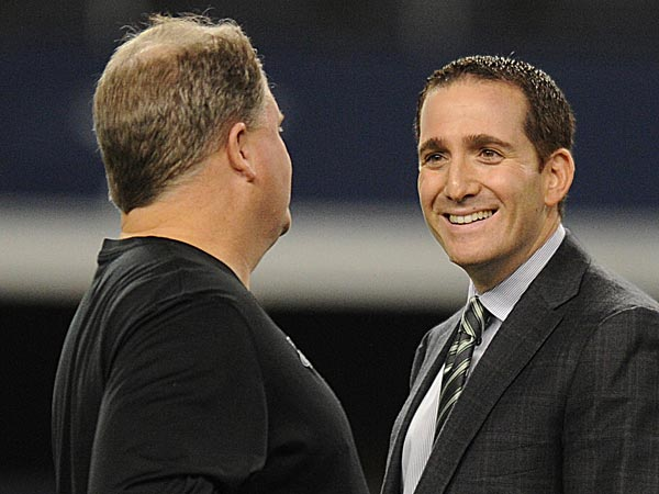Eagles head coach Chip Kelly and general manager Howie Roseman. (Clem Murray/Staff file photo)