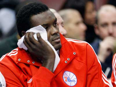 Sam Dalembert and the Sixers remain near the bottom of media rankings. (Associated Press)