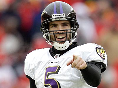 Joe Flacco and the Ravens are three-point underdogs as they travel to face Pittsburgh Saturday. (AP Photo/Jeff Roberson)