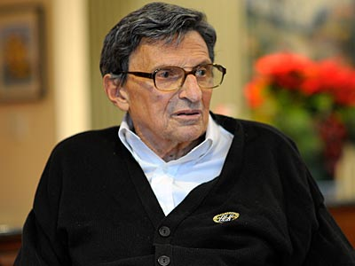 Joe Paterno made his first public comments since being fired in an interview with the Washington Post. (John McDonnell/The Washington Post/AP)