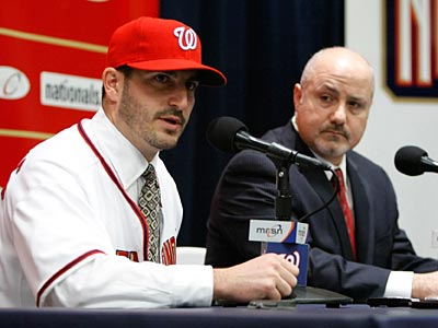 One of the Washington Nationals´ biggest offseason acquisitions was right-handed pitcher Jason Marquis. (AP Photo/Luis M. Alvarez)