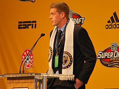 The Union selected Zac MacMath fifth overall in the 2011 MLS SuperDraft. (Jonathan Tannenwald/Philly.com)