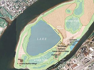Conceptual plan of Burlington Island, phase 3.