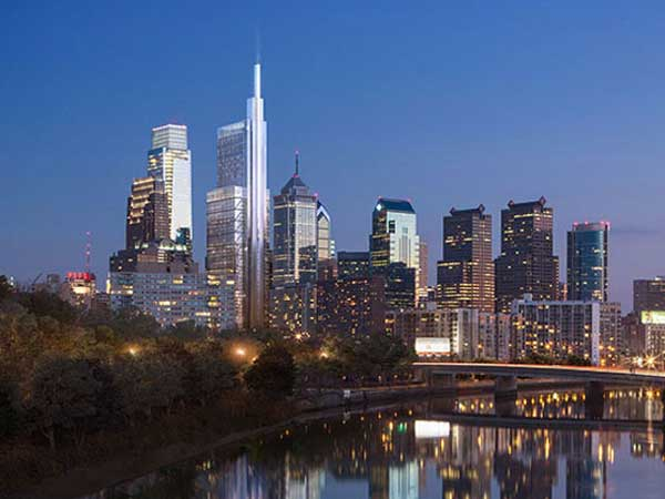 An artist´s rendering of the proposed Comcast Innovation and Technology Center. (Photo from corporate.comcast.com)