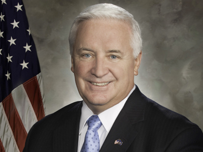 Gov. Corbett has named himself the head of the Delaware River Port Authority board. (File Photo / AP)