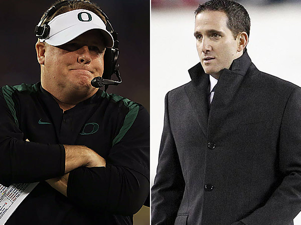 Chip Kelly and Howie Roseman. (AP and staff photos)