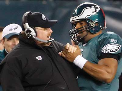 """I think the world of Donovan [McNabb],"" Eagles coach Andy Reid said today. (Ron Cortes/Staff file photo)"