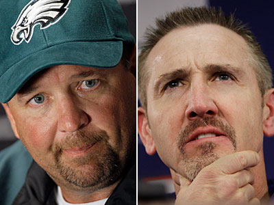 The coaching futures of Steve Spagnuolo and Marty Mornhinweg are up in the air. (AP Photos)