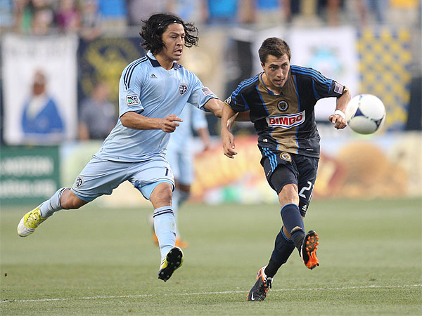 Union midfielder Michael Farfan is a classic example of a second-round SuperDraft pick who turned out to be a quality player. (Steven M. Falk/Staff file photo)